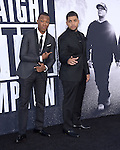 Corey Hawkins and O'Shea Jackson Jr.  attends The Universal Pictures' STRAIGHT OUTTA COMPTON World Premiere held at The Microsoft Theatre  in Los Angeles, California on August 10,2015                                                                               © 2015 Hollywood Press Agency