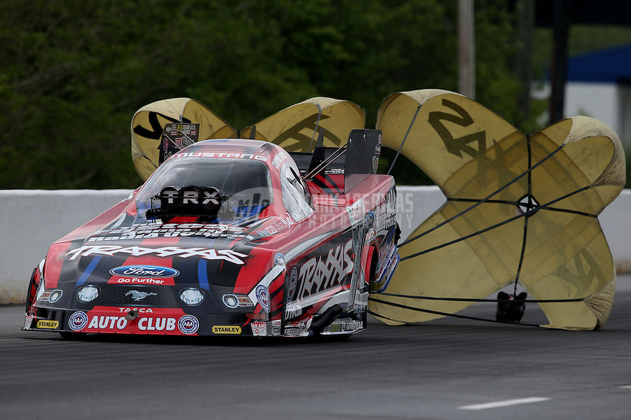 May 11, 2013; Commerce, GA, USA: NHRA funny car driver Courtney Force during the Southern Nationals at Atlanta Dragway. Mandatory Credit: Mark J. Rebilas-