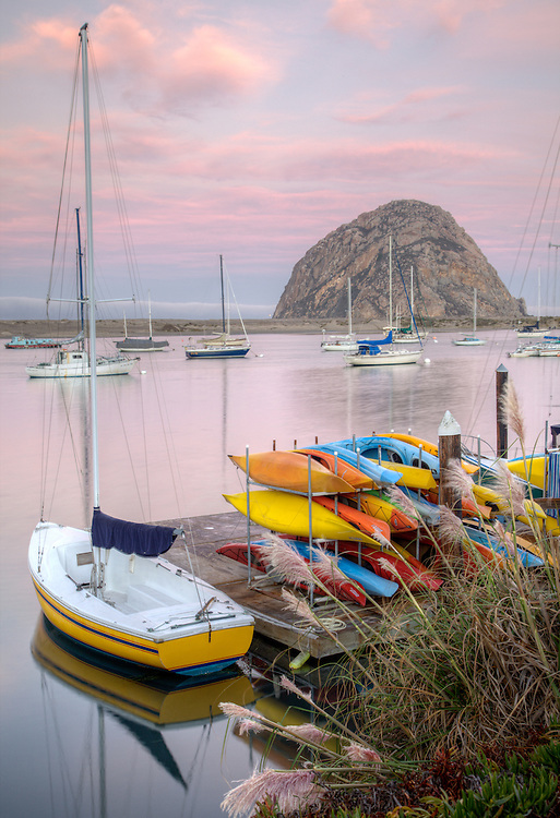 Early morning serenity at Morro Bay on California's central coast