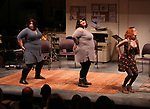 "Ashlie Atkinson, Nicole Spiezio and Anna O'Donoghue ""Three Fat Sisters"" during the 2018 Presentation of New Works by the DGF Fellows on October 15, 2018 at the Playwrights Horizons Theatre in New York City."