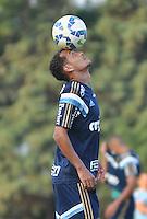 SÃO PAULO,SP, 26.05.2015 - FUTEBOL-PALMEIRAS - Alan Patrick do Palmeiras durante o treinamento do Palmeiras na Academia de Futebol, na Barra Funda zona oeste nesta terça-feira, 26.  (Foto: Bruno Ulivieri/Brazil Photo Press)