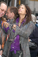 NEW YORK, NY - NOVEMBER 1: Steven Tyler of Aerosmith at The Ed Sullivan Theater for an appearance on Late Show with David Letterman in New York City. November 1, 2012. © RW/MediaPunch Inc. /NortePhoto