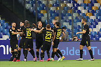 13th June 2020; Stadio San Paolo, Naples, Campania, Italy; Coppa Italia Football, Napoli versus Inter Milan; Christian Eriksen of Inter celebrates after scoring his goal directly from a corner kick in the 2nd minute