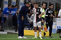 Maurizio Sarri , Paulo Dybala of Juventus <br /> Milano 6-10-2019 Stadio Giuseppe Meazza <br /> Football Serie A 2019/2020 <br /> FC Internazionale - Juventus FC <br /> Photo Federico Tardito / Insidefoto