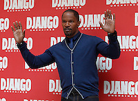 "L'attore statunitense Jamie Foxx posa durante un photocall per la presentazione del film ""Django Unchained"" a Roma, 4 gennaio 2013..U.S. actor Jamie Foxx poses during a photocall for the presentation of the movie ""Django Unchained"" in Rome, 4 January 2013..UPDATE IMAGES PRESS/Isabella Bonotto"
