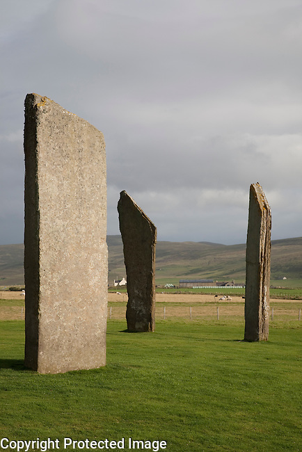 Stones of Stenness in the Orkney Islands in Scotland