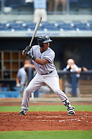 Tampa Yankees third baseman Daniel Barrios (29) at bat during the first game of a doubleheader against the Charlotte Stone Crabs on July 18, 2017 at Charlotte Sports Park in Port Charlotte, Florida.  Charlotte defeated Tampa 7-0 in a game that was originally started on June 29th but called to inclement weather.  (Mike Janes/Four Seam Images)