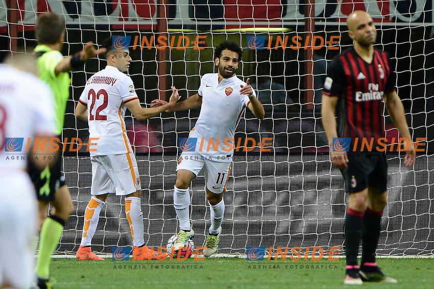 Esultanza gol Mohamed Salah Roma 0-1. Celebration goal<br /> Milano 14-05-2016 Stadio Giuseppe Meazza - Football Calcio Serie A Milan - AS Roma. Foto Giuseppe Celeste / Insidefoto