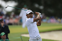 Satoshi Kodaire (JPN) on the 3rd tee during the 2nd round at the The Masters , Augusta National, Augusta, Georgia, USA. 12/04/2019.<br /> Picture Fran Caffrey / Golffile.ie<br /> <br /> All photo usage must carry mandatory copyright credit (© Golffile | Fran Caffrey)