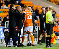 Blackpool's Steve Davies leaves the field<br /> <br /> Photographer Alex Dodd/CameraSport<br /> <br /> The EFL Checkatrade Trophy Northern Group C - Blackpool v West Bromwich Albion U21 - Tuesday 9th October 2018 - Bloomfield Road - Blackpool<br />  <br /> World Copyright &copy; 2018 CameraSport. All rights reserved. 43 Linden Ave. Countesthorpe. Leicester. England. LE8 5PG - Tel: +44 (0) 116 277 4147 - admin@camerasport.com - www.camerasport.com