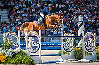 ARG-Luis Magnasco rides Callisto Des Bieffes during the FEI World Team and Individual Jumping Championships. 2018 FEI World Equestrian Games Tryon. Friday 21 September. Copyright Photo: Libby Law Photography