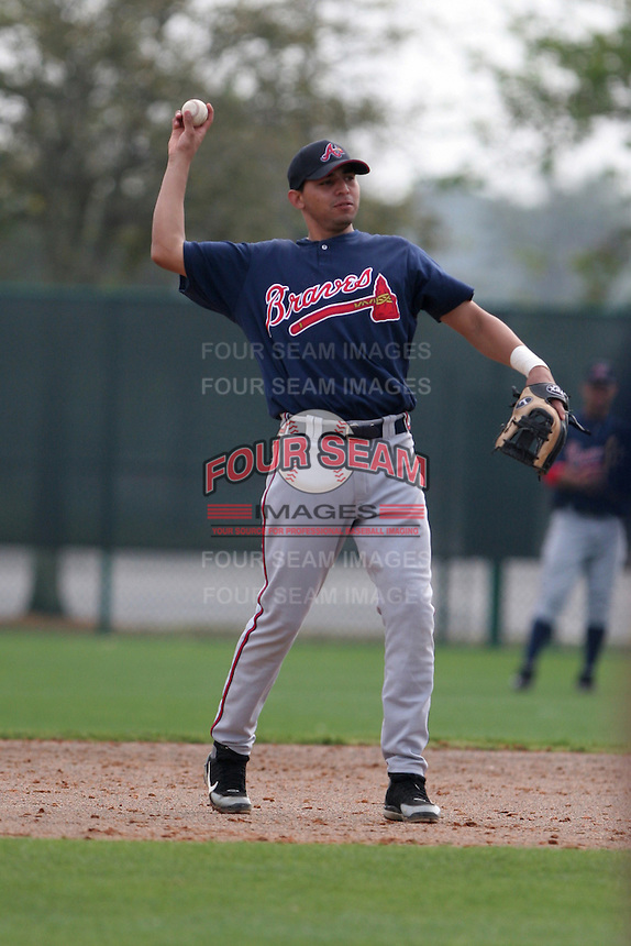 Atlanta Braves minor leaguer Jamie Trejo during Spring Training at Disney's Wide World of Sports on March 14, 2007 in Orlando, Florida.  (Mike Janes/Four Seam Images)