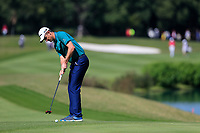 Justin Rose (ENG) on the 2nd green during the 3rd round at the WGC HSBC Champions 2018, Sheshan Golf CLub, Shanghai, China. 27/10/2018.<br /> Picture Fran Caffrey / Golffile.ie<br /> <br /> All photo usage must carry mandatory copyright credit (&copy; Golffile | Fran Caffrey)