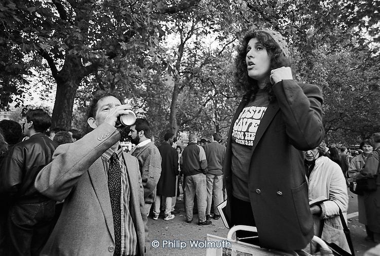 Preacher.  Speakers' Corner, Hyde Park, London.