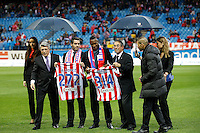 5.05.2012 SPAIN -  La Liga matchday 37th  match played between Atletico de Madrid vs Malaga (2-1) at Vicente Calderon stadium. The picture show Antonio Lopez (Spanish defender of At. Madrid)
