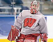 Shane Connelly - The University of Wisconsin Badgers practiced on Friday, April 7, 2006, at the Bradley Center in Milwaukee, Wisconsin.  The following evening the Badgers defeated Boston College 2-1 to win the Title.