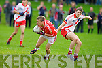 East Kerry's Dara Roche gets away from An Ghaeltacht's Cathal O Luing in the minor County championship final at Killorglin on Saturday.