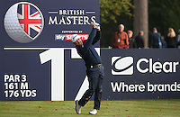 Graeme McDowell (NIR) in action during the Final Round of the British Masters 2015 supported by SkySports played on the Marquess Course at Woburn Golf Club, Little Brickhill, Milton Keynes, England.  11/10/2015. Picture: Golffile | David Lloyd<br /> <br /> All photos usage must carry mandatory copyright credit (&copy; Golffile | David Lloyd)