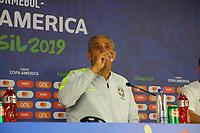 SALVADOR, BA, 17.06.2019: FUTEBOL-SELEÇÃO - Tite durante entrevista coletiva na tarde desta segunda-feira (17), na Arena Fonte Nova, no centro de Salvador. (Foto: Sandro Pereira/Código19)