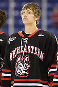 Luke Eibler (Northeastern - 20) - The visiting Northeastern University Huskies defeated the University of Massachusetts-Lowell River Hawks 3-2 with 14 seconds remaining in overtime on Friday, February 11, 2011, at Tsongas Arena in Lowelll, Massachusetts.