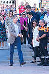 King Felipe VI and Queen Letizia of Spain visit Arganda del Rey because of the floods that happened in August and September. September 27, 2019. (ALTERPHOTOS/ Francis Gonzalez)