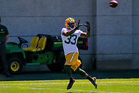 Green Bay Packers running back Aaron Jones (33) during an OTA on June 1, 2017 at Clark Hinkle Field in Green Bay, Wisconsin. (Brad Krause/Krause Sports Photography)