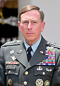 United States President Barack Obama (not pictured) announces he is replacing General Stanley McChrystal, United States Army, Commander, International Security Assistance Force (ISAF) with General David H. Petraeus, Chief of the United States Central Command (CENTCOM) in Washington, D.C. on Wednesday, June 23, 2010..Credit: Ron Sachs / Pool via CNP