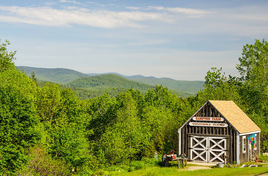 Find seasonal fresh veggies and flowers at the scenic Campton Farmstand.