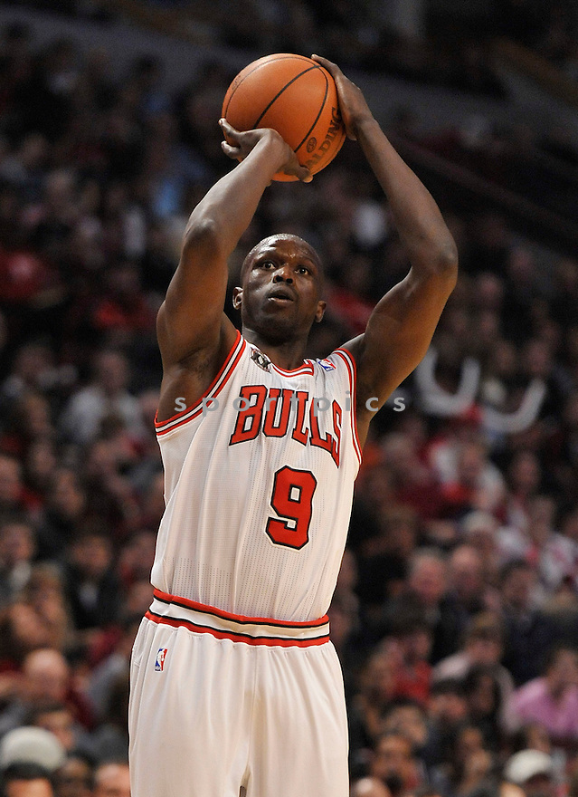 LUOL DENG, of the Chicago Bulls , in actions during the Bulls game against the Miami Heat at the United Center on January 15, 2011.  The Bulls won the game beating the Heat 99-96