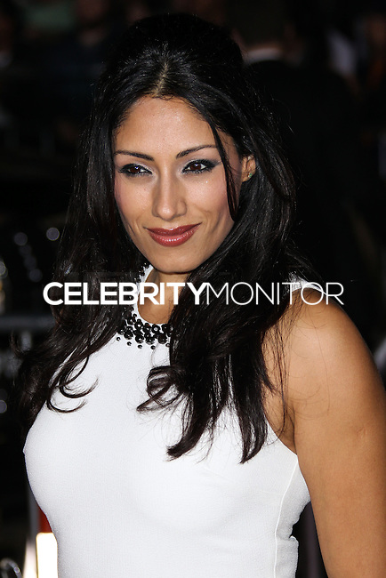 "WESTWOOD, CA, USA - FEBRUARY 24: Tehmina Sunny at the World Premiere Of Universal Pictures And Studiocanal's ""Non-Stop"" held at Regency Village Theatre on February 24, 2014 in Westwood, Los Angeles, California, United States. (Photo by Xavier Collin/Celebrity Monitor)"