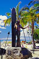 Duke Kahanamoku statue, Waikiki beach, Oahu