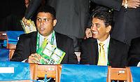 SAO PAULO, SP, 01 DEZEMBRO  2012 - SORTEIO COPA DAS CONFEDERACOES - Ronaldo (E) e Bebeto sao  vists durante sorteio dos grupos neste  sabado no Parque Anhembi regiao norte da capital paulista. FOTo: WILLIAM VOLCOV - BRAZIL PHOTO PRESS.