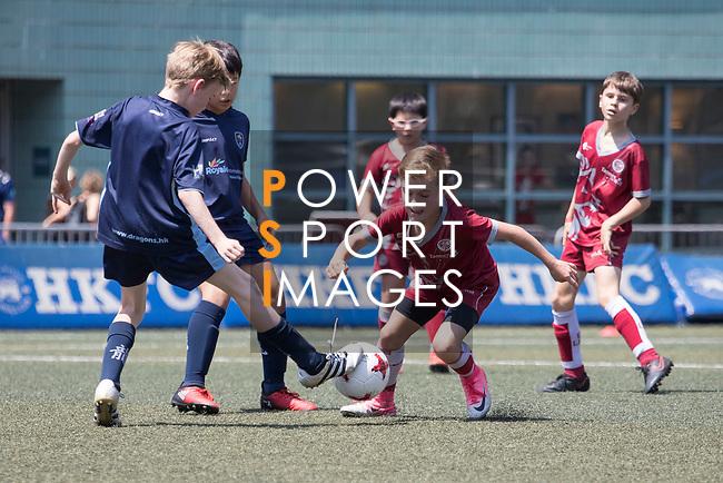 U-10 Plate Finals match, part of the HKFC Citi Soccer Sevens 2017 on 27 May 2017 at the Hong Kong Football Club, Hong Kong, China. Photo by Chris Wong / Power Sport Images