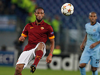 AS Roma's Seydou Keita   during the Champions League Group E soccer match between As Roma and Manchester City  at the Olympic Stadium in Rome December 10 , 2014.