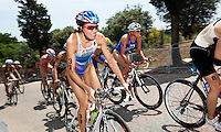 05 JUN 2010 - MADRID, ESP -  Irina Abysova - Womens ITU World Championship Series triathlon (PHOTO (C) NIGEL FARROW)