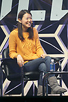 Akiko Naka CEO of Wantedly speaks during the Slush Tokyo 2017 event on March 30, 2017, Tokyo, Japan. The 2 day event features outstanding entrepreneurs sharing their stories and showcasing their products and services in Tokyo Big Sight. (Photo by Rodrigo Reyes Marin/AFLO)