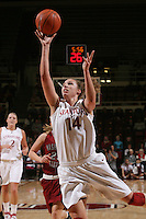 STANFORD, CA - JANUARY 14:  Kayla Pedersen of the Stanford Cardinal during Stanford's 80-43 win over the Washington State Cougars on January 14, 2009 at Maples Pavilion in Stanford, California.