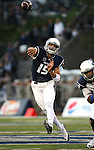Nevada quarterback Tyler Stewart passses against UC Davis during the first half of an NCAA college football game in Reno, Nev. on Thursday, Sept. 3, 2015. (AP/Cathleen Allison)