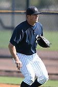 March 17th 2008:  Chris Raber of the New York Yankees minor league system during Spring Training at Legends Field Complex in Tampa, FL.  Photo by:  Mike Janes/Four Seam Images