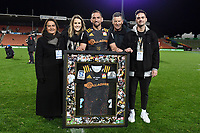 1st August 2020, Hamilton, New Zealand;  Aaron Cruden 100 games with family.<br /> Chiefs versus Crusaders, Super Rugby Aotearoa, FMG Waikato Stadium, Hamilton, New Zealand.