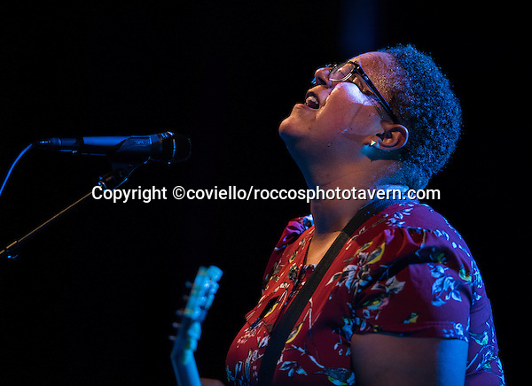 Alabama Shakes closing out Boston Calling on September 27, 2015. Brittany Howard lead singer.