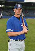 July 14th, 2007:  Justin Johnson of the Aberdeen Ironbirds, Class-A Short-Season affiliate of the Baltimore Orioles, poses for a photo before a game vs the Jamestown Jammers in New York-Penn League action.  Photo Copyright Mike Janes Photography 2007.