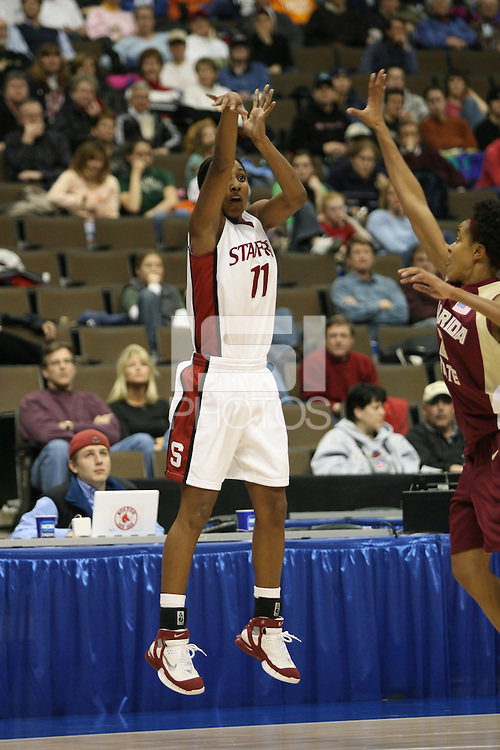 20 March 2006: Candice Wiggins during Stanford's 88-70 win over Florida State in the second round of the NCAA Women's Basketball championships at the Pepsi Center in Denver, CO.