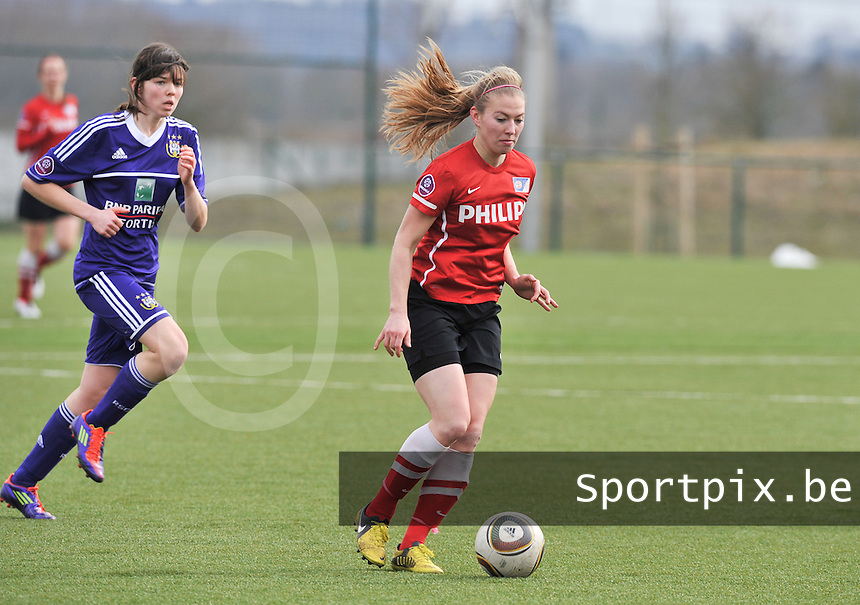 RSC Anderlecht Dames - PSV / FC Eindhoven : Mauri van de Wetering.foto David Catry / Vrouwenteam.be
