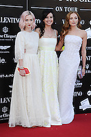 Portia Freeman, Daisy Lowe and Clara Paget arrives for the end of Cash and Rocket Rally, Party at the Natural History Museum, London. 08/06/2014 Picture by: Steve Vas / Featureflash