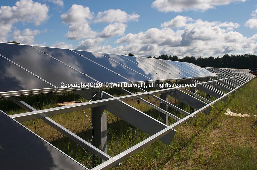 Row of Solar Panel installation