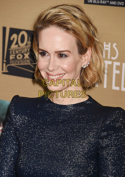 LOS ANGELES, CA - OCTOBER 03: Actress Sarah Paulson arrives at the premiere screening of FX's 'American Horror Story: Hotel' at Regal Cinemas L.A. Live on October 3, 2015 in Los Angeles, California.<br /> CAP/ROT/TM<br /> &copy;TM/ROT/Capital Pictures
