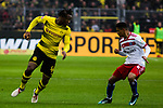 10.02.2018, Signal Iduna Park, Dortmund, GER, 1.FBL, Borussia Dortmund vs Hamburger SV, <br /> <br /> im Bild | picture shows:<br /> Michy Batshuayi (Borussia Dortmund #44) mit Douglas Santos (Hamburger SV #6), <br /> <br /> <br /> Foto &copy; nordphoto / Rauch