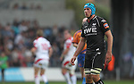 8 September 2012; Justin Tupuric..Celtic League, Round 2, Ospreys v Ulster, Liberty Stadium, Swansea, Wales. Picture credit: Steve Pope / SPORTSFILE