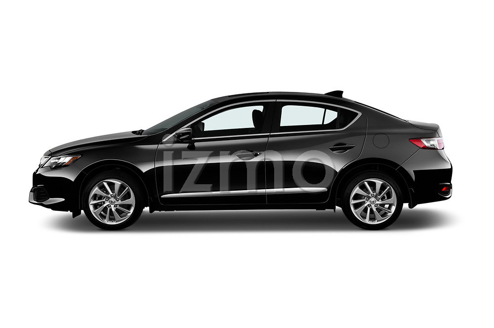 Car driver side profile view of a 2018 Acura ILX Technology Plus 4 Door Sedan